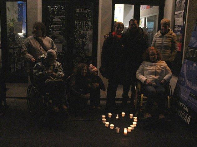 Oslava 17. listopadu v Ústí nad Labem.