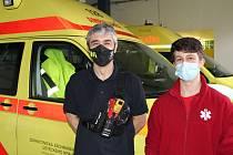 Se studentem Martinem Schreiberem byl na výjezdu Jiří Koš, který je na ústecké záchrance brigádně, původně je litoměřický hasič