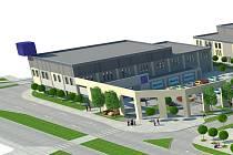 Vizualizace plánovaného obchodního centra na Střekově.