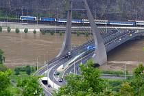 Povodně v Ústí nad Labem, úterý 4. června 2013.
