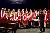 Ústecký dětský sbor a jeho přípravný sbor Cvrček, Luscinia, vystoupí v neděli 15. dubna v Severočeském divadle opery a baletu na Mezinárodním festivalu sborového zpěvu. Snímky jsou z vystoupení a letního soustředění v loňském roce.