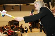 Chantal Poullain před rokem v Gotickém hradu v Litoměřicích všechny uchvátila nejen coby licitátorka během dražby.