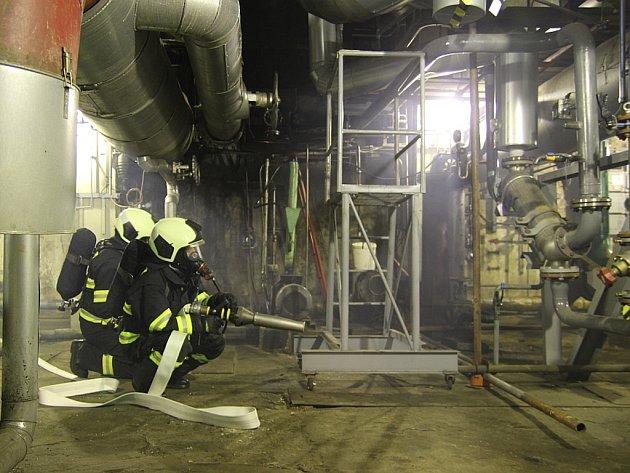 Podnikoví hasiči Teplárny Trmice.