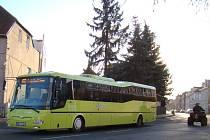 V zelených autobusech zatím chybí označovače. Ilustrační foto.