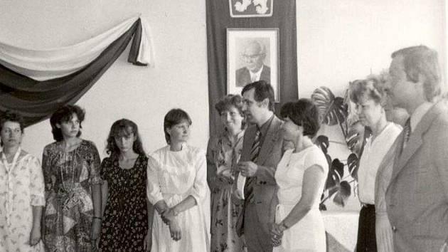 Fotografie z historie ústeckého Gymnázia Václava Šmejkala.