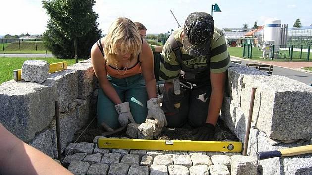 Žáci děčínské školy Libverda při praxi.