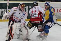 Z hokejového utkání Ústí - Chrudim...