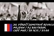 Café Max oslaví výročí Sametové revoluce hudbou