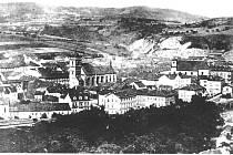 Autor neznámý, jedna z nejstarších fotografií Ústí nad Labem.