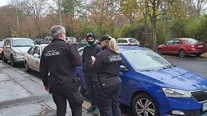 Městská policie při kontrolách v Ústí nad Labem