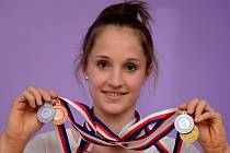 Gymnastka Anna-Maria Kányai je mistryní ČR 2014.