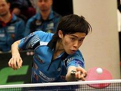 Osmadvacátý hráč světa Masataka Morizono z Japonska bavil svou hrou diváky.