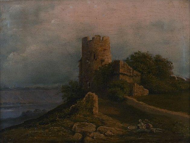 Josef Matěj Navrátil, Krajina shradem, (kolem 1853), GMU vRoudnici nad Labem.