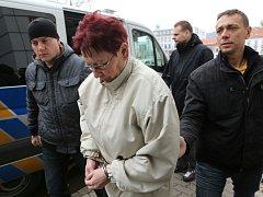 Obviněnou převezli k Okresnímu soudu v Ústí, který rozhodne o vazbě.