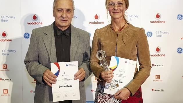 ROK 2014: Ladislav Hruška Živnostník roku a Adéla Zrubecká z vítězné firmy Nobilis Tilia.
