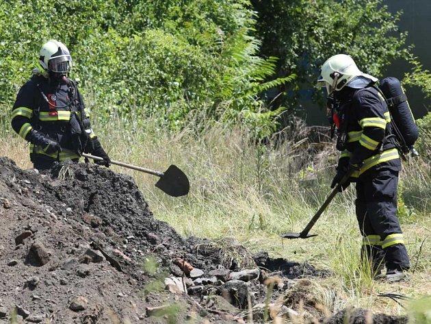 Zákrok hasičů vKrásném Březně.