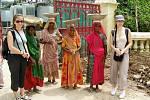 Michaela Zikmundová z Jablonce a Adéla Balíková z Děčína v Indii ve městě Udaipur.