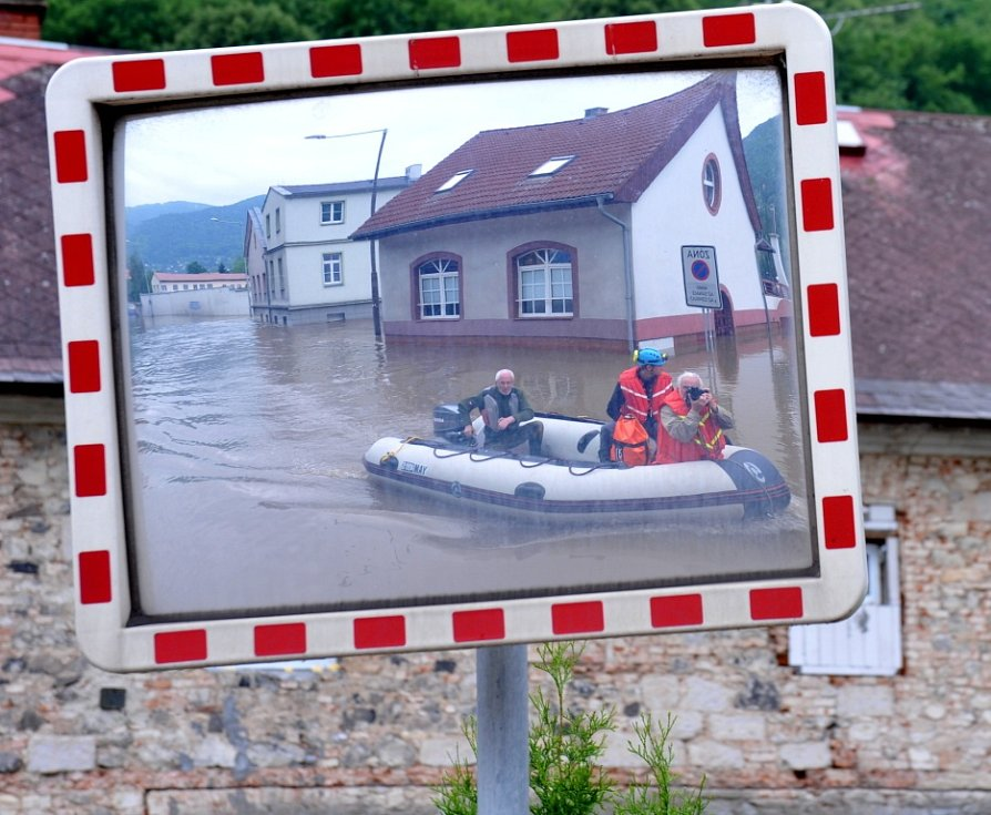 Situace ve Vaňově, čtvrtek 6. června 2013.
