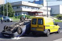Dopravní nehoda na Severní Terase.