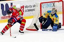Brankář Ústí Radek Fiala pustil v duelu s Třebíčí za svá záda jen dvě střely a Ústečtí Lvi i díky němu vyhráli pošesté v řadě.
