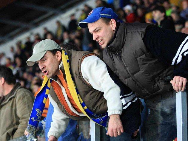 Z rozhodujícího hokejového zápasu mezi Ústím a Brnem...