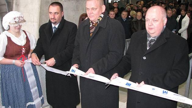 Slavnostní zahájení provozu lanové dráhy na Větruši.