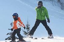 Děti, sluníčko a lyžovačka ovládly Telnici.