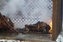 Požár popelnic