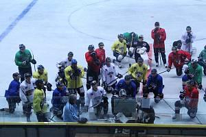První trénink Slovanu na ledě.