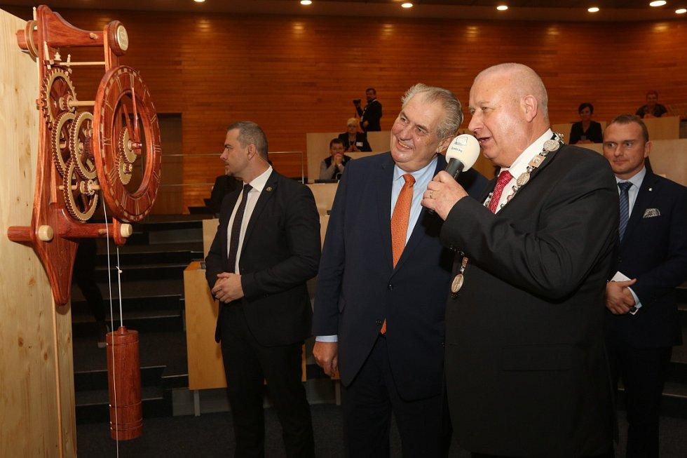 Prezident Miloš Zeman přijel do Ústeckého kraje.