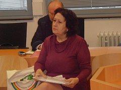 Obviněná Irena Pravdová u ústeckého krajského soudu.