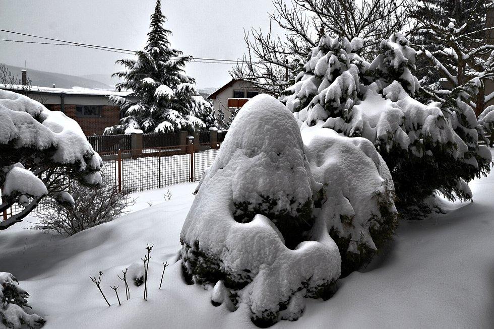 Loni jsme sníh na Bukově neviděli, letos si ho užíváme vrchovatě, napsal do redakce Miroslav Vlach z Ústí nad Labem.