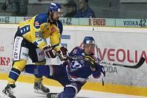 V doposud posledním utkání porazili ústečtí hokejisté na domácím ledě celek Litoměřic 3:0. Uspějí i v Třebíči?