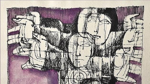 Muzeum vystavuje kresby Miroslava Houry.