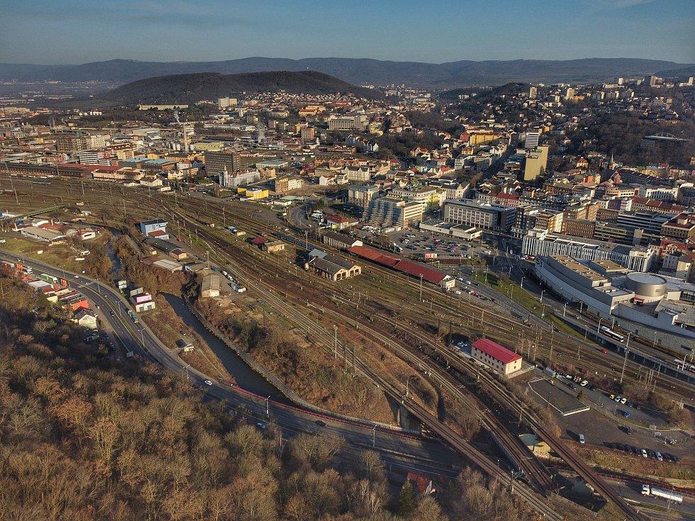 Podívejte se, jak vypadá krajské město z ptačí perspektivy. Na snímku je centrum města.
