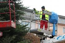 Vánoční výzdoba na Lidickém náměstí v Ústí nad Labem