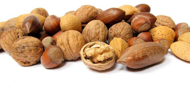 Ořechy.