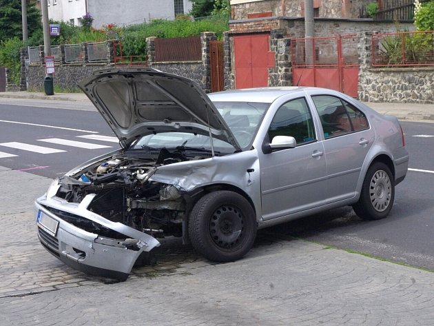 Nehoda v Opletalově ulici.