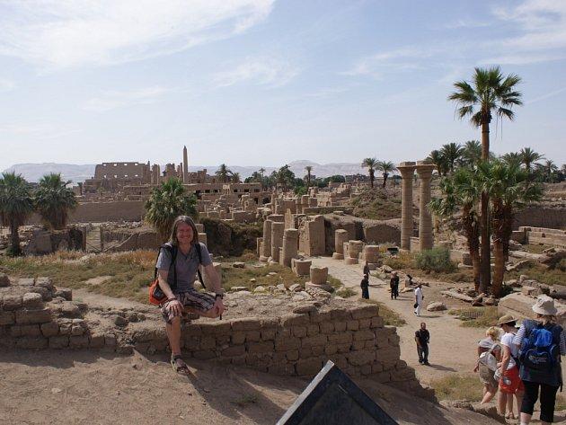 Miloš Matula vEgyptě (Karnak/Luxor).