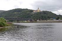 Labe v Ústí nad Labem ve čtvrtek 14. 7. 2016 odpoledne.