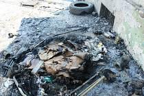 Požár odpadu. Ilustrační foto.