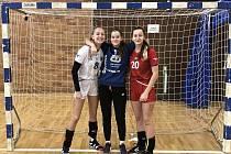 Starší žačky HK Spartak Ústí nad Labem, trio budoucích reprezentantek