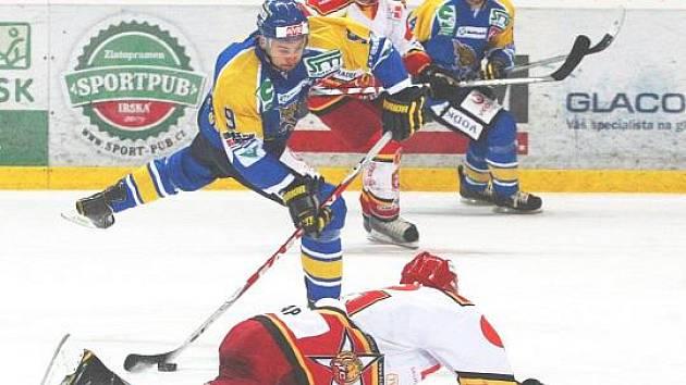 Ústečtí hokejisté naposledy doma podlehli Hradci Králové 2:4. Sparví si chuť ve Vrchlabí?