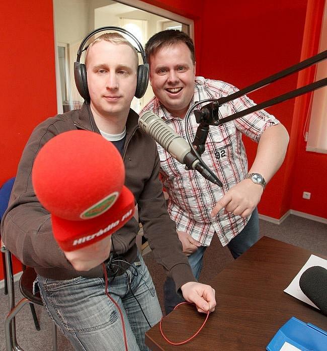 S rozhlasovým moderátorem Zdeňkem Lukeslem, Luďkem Stínilem