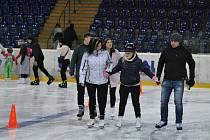 Bruslení na Zimním stadionu v Ústí