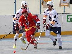 Hokejbalisté Elby. Ilustrační foto.