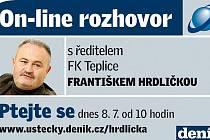 On-line rozhovor s Františkem Hrdličkou.