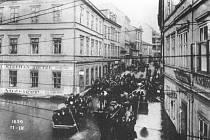 Povodeň v roce 1890, centrum města.