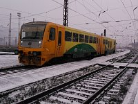 Zima na železnici v Severních Čechách. Ilustrační foto.
