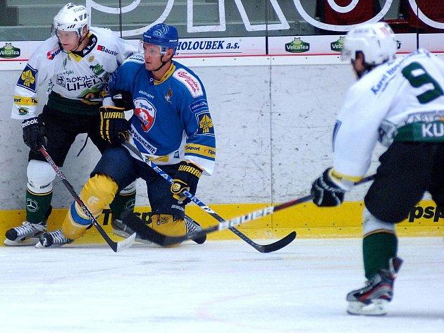 Hokejové utkání Ústí nad Labem - Karlovy Vary.